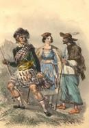 ÉCOSSAIS MONTAGNARD, PAYSANS HONGROIS, Européen costume, engravi