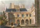 HÔTEL CLUNY : France, Paris, engraving, print, plates