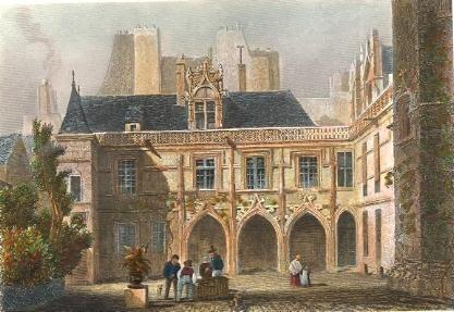 HÔTEL CLUNY : France, Paris, Parigi, estampes, gravures ancienne