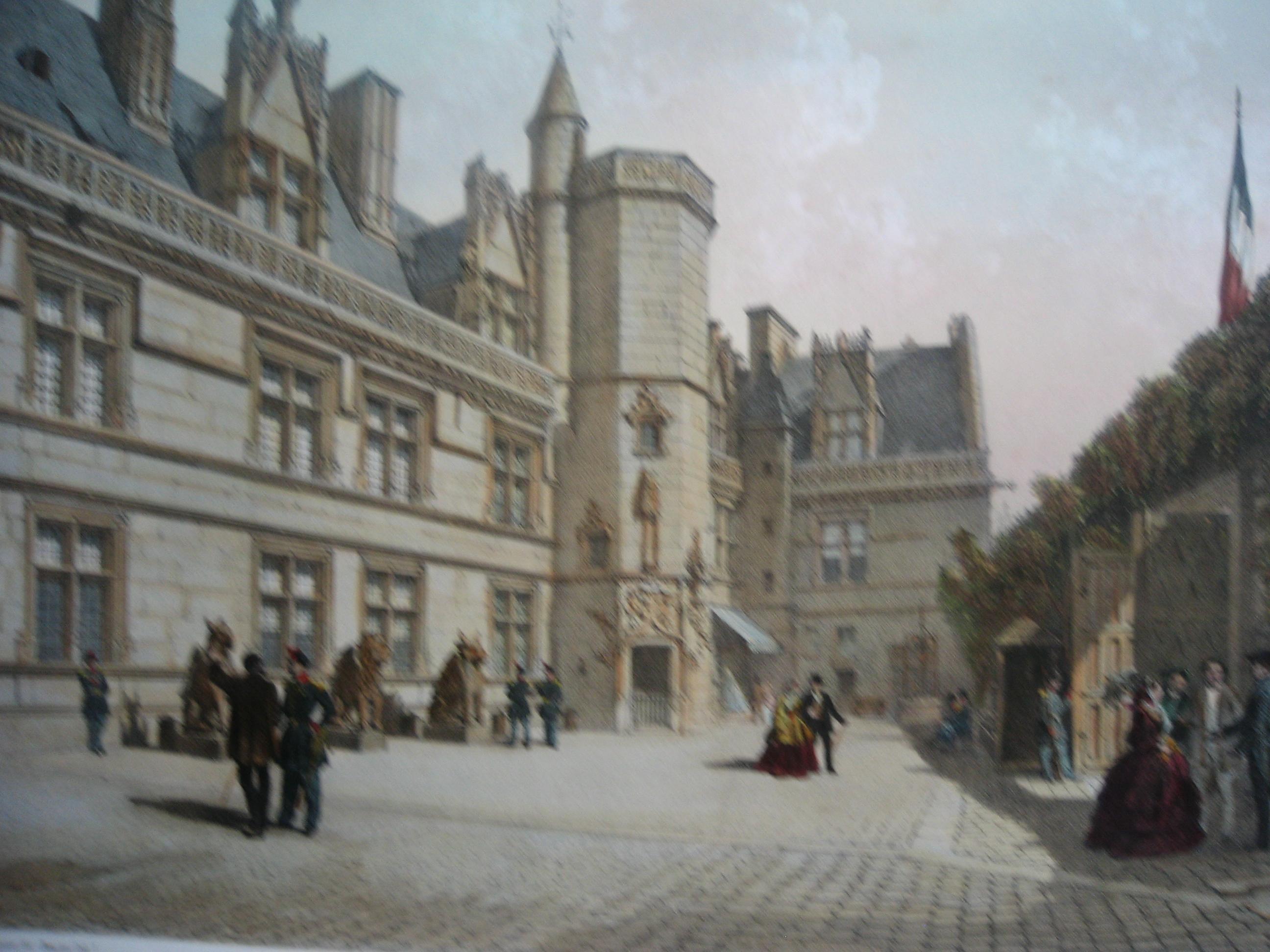 HÔTEL ET MUSÉE DE CLUNY : Paris, lithographe, museum middle adge