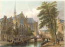 AMSTERDAM, NIEWKERQUE : engraving, print, plate, Holland, Nederl