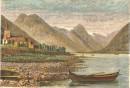 NORWAY : LE FJERLNFJORD, Norwegen, Norge, engraving, print, plat