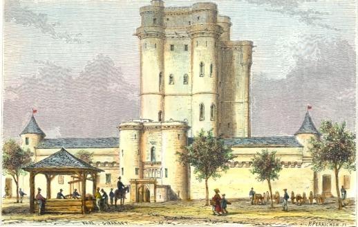 VINCENNES : castle of vincennes, Paris, Parigi, engraving, print
