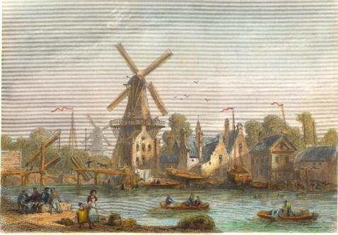 LE PONT ST NICOLAS, HAARLEM : Holland, Netherlands, Nederland, e