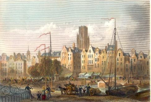 ROTTERDAM, LE KOLK : Holland, Nederland, Netherlands, engraving,