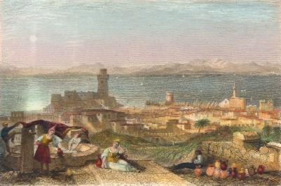 RHODES : Greece, griecheland, grecia, engraving, print, plate