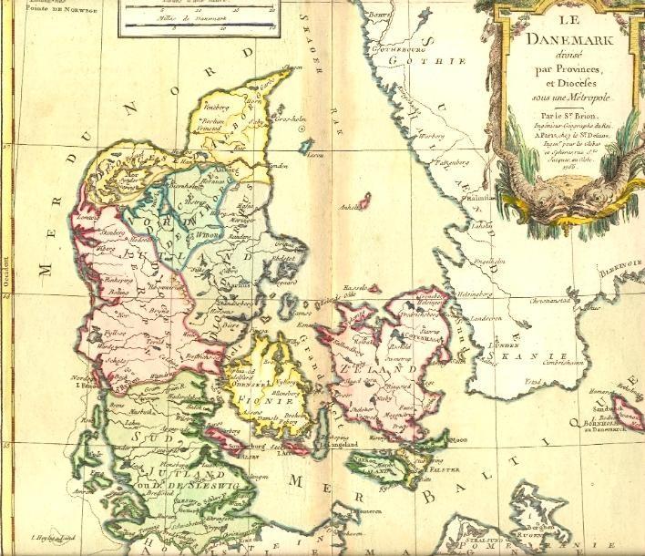 DENMARK, map, karte, plates, print,