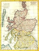 SCOTLAND, map, map 18th, karte, engraving