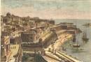 MALTA : VALETTA, Malta island, print, plate, engraving