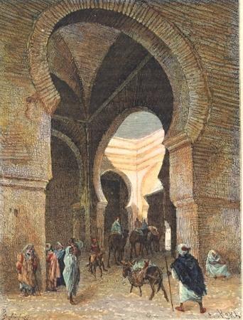 MAROC : FEZ, Afrique du Nord, gravures anciennes, stich