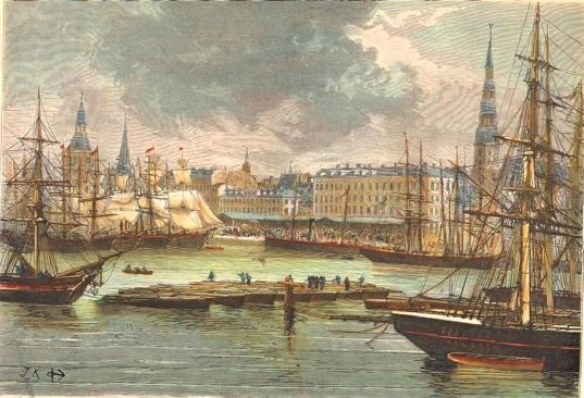 LETTLAND : RIGA, Russia, print, engraving, plate