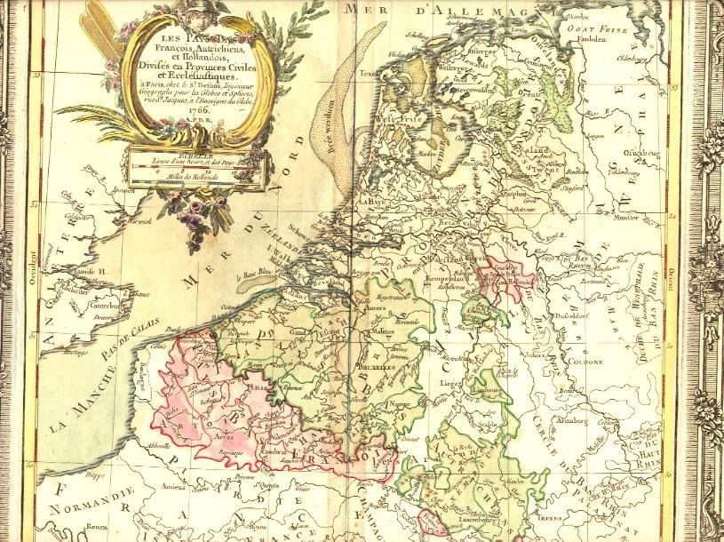 NETHERLAND, AUSTRIA, FRANCE, HOLLAND, 18th map, old map