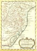 BRÉSIL, Amérique du Sud, Cap Se Marie, carte du 18e siècle, cart