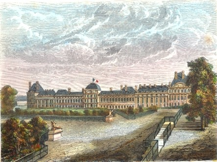 PALAIS DES TUILERIES, FRANCE, PARIS, STICH, print, plate, engrav