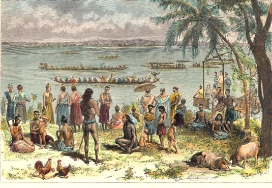 INDOCHINA : COURSES SUR LE MEKONG, Asia, engraving, print, plate