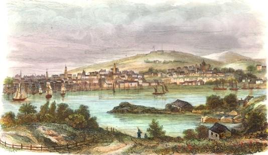 HALIFAX, Nova Scotia, engraving, print, plate