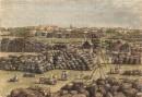 BOMBAY, le marché au coton, INDIA, engraving, plate, print