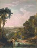 CROSSING THE BROOK : Turner, engraving, print, plate,