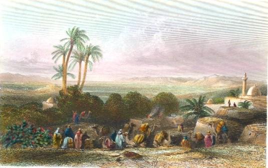 PLAIN OF ESDRAELON FROM JENIN, Palestiania, Palestinien, Israel,