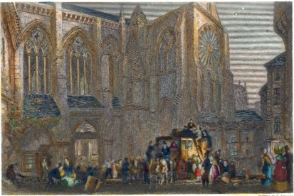 ST JULIANS, TOURS : France, Turner, print, plate, engraving