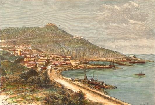 ALGERIA : ORAN, North Africa, engraving,print, plate