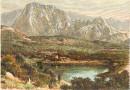 ILE DE LA RÉUNION : PITON D'ENCHEIN, gravure ancienne, estampe,