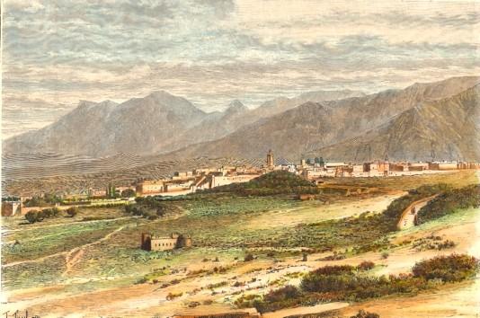 MAROCCO : TETUAN, engraving, print, plate, Marokko