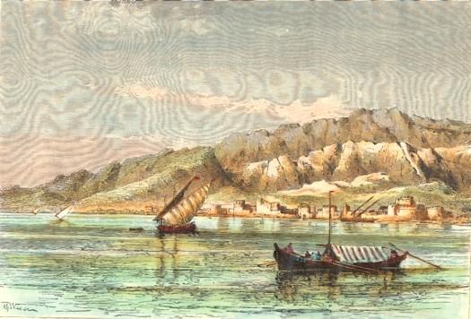 PERSIA : BANDAR-ABBAS, Grambroon, engraving, print, plate, Banda