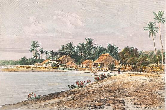 HAWAÏ : PAYSAGE DE L'ARCHIPEL HAVAIIEN - vue prise à Waimea, ile Kauai