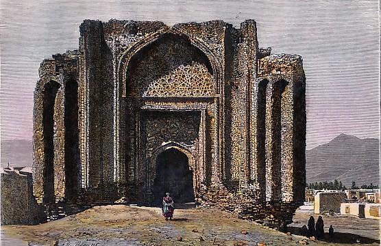 HAMADAN, MOSQUÉE RUINÉE DU XIVe siècle