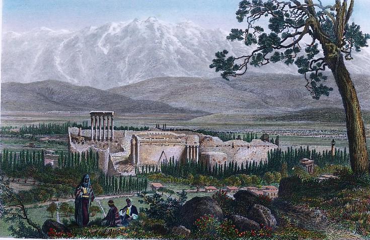 BAALBEK ET LA CHAINE DU LIBAN