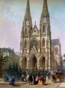 ÉGLISE STE CLOTILDE : Francia, France, Paris, church, lithograph