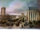 CHÂTEAU DE VINCENNES : Paris, lithographe, lithography,