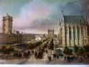CHÂTEAU DE VINCENNES : Paris, lithographe, lithography,
