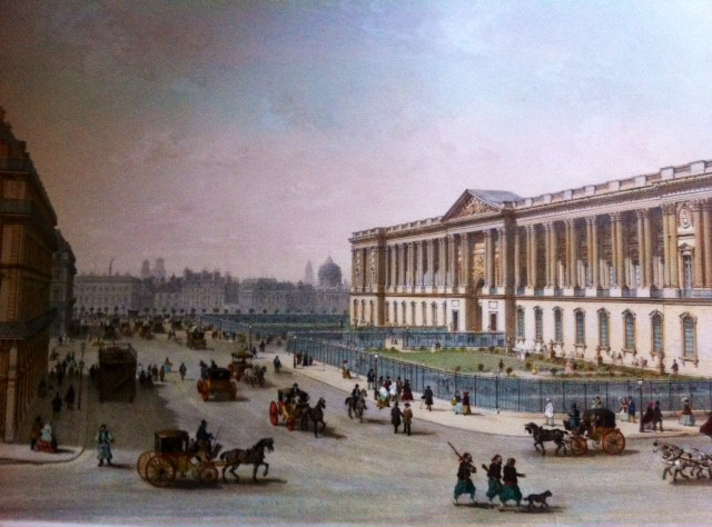 COLONNADE DU LOUVRE, Paris, France, lithographe,