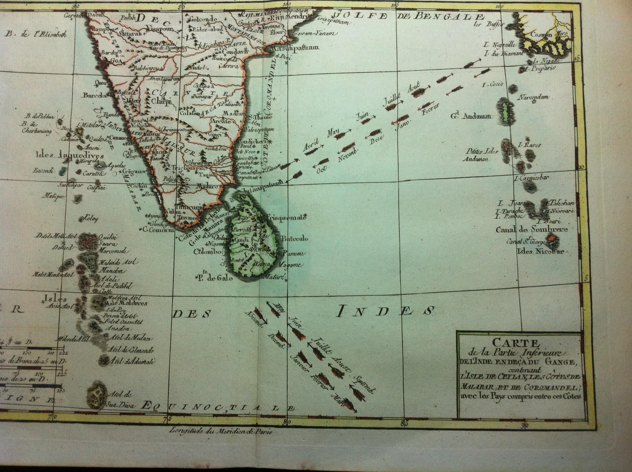 Carte De Linde Avec Le Gange.Carte De La Partie Inferieure De L Inde En Deca Du Gange Ida Victoire