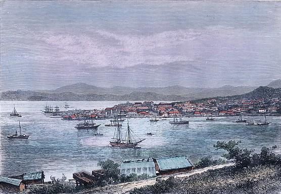 NOUMÉA - Vue générale de la rade, prise de la caserne d'artillerie