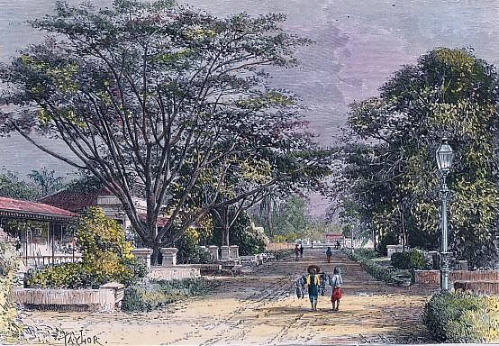 BATAVIA - vue prise dans une rue