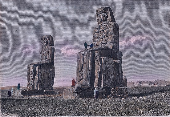 EGYPTE : COLOSSES DE MEMNON