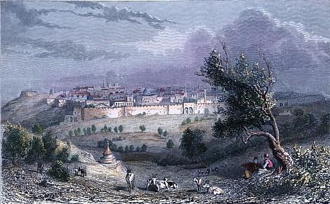 JERUSALEM vue prise du Mont des Oliviers