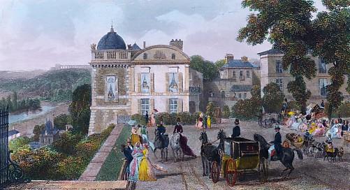 ST GERMAIN (vue prise du Pavillon de Henry IV)