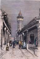 TUNIS : une rue, près des souk, à l'ouest de la ville