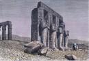 THÈBES - Colosses du Ramesséum