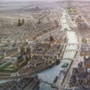 PARIS vue à vol d'oiseau de St Gervais