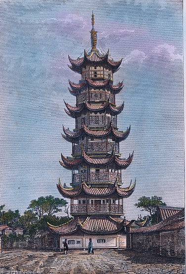CHINE: CHANGAÏ - TOUR DE LONG-HOUA