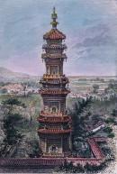 CHINE : ENVIRONS DE PÉKING - vue prise du palais d'été