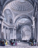THE PANTHEON PARIS : France, engraving, print, plate, pantheon i