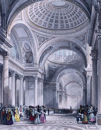 THE PANTHEON PARIS : France, engraving, print, plate, pantheon i