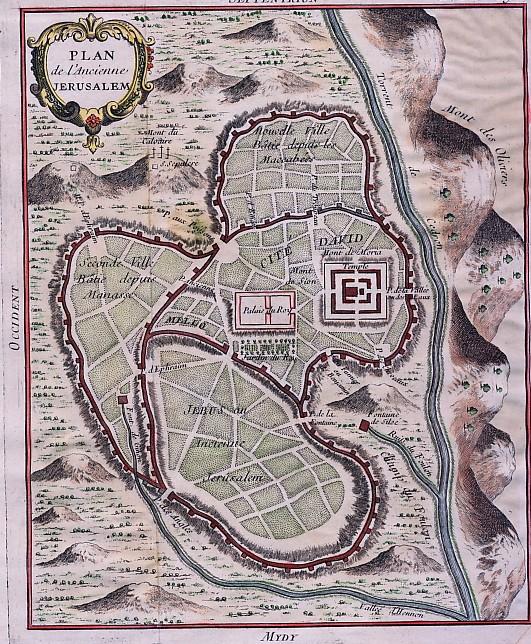 PLAN DE L'ANCIENNE JERUSALEM