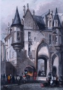 HÔTEL DE SENS, Francia, old print, engraving, plates, paris